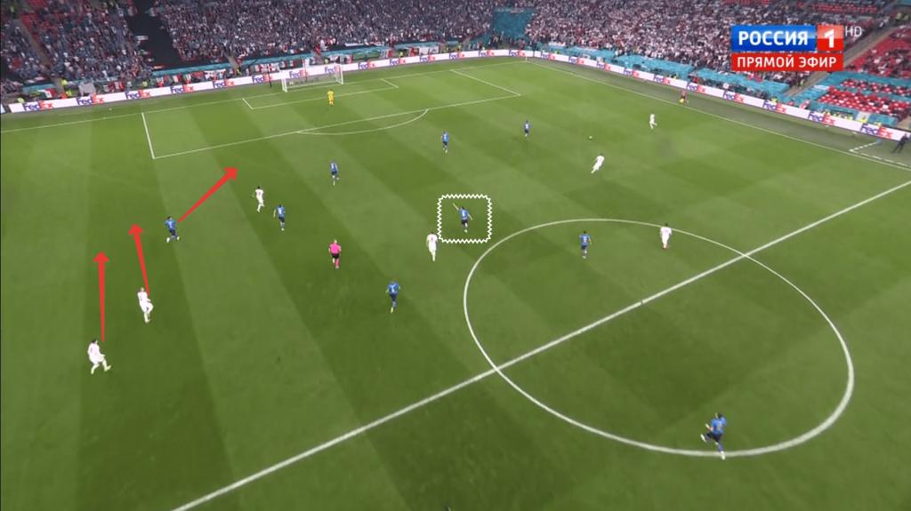 Жоржиньо плохо подсказал при голе Англии - финал Евро-2020