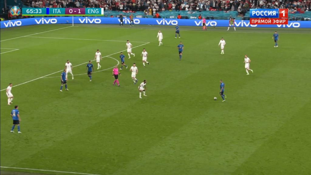 Кьеллини пришел в линию нападения - финал Евро-2020